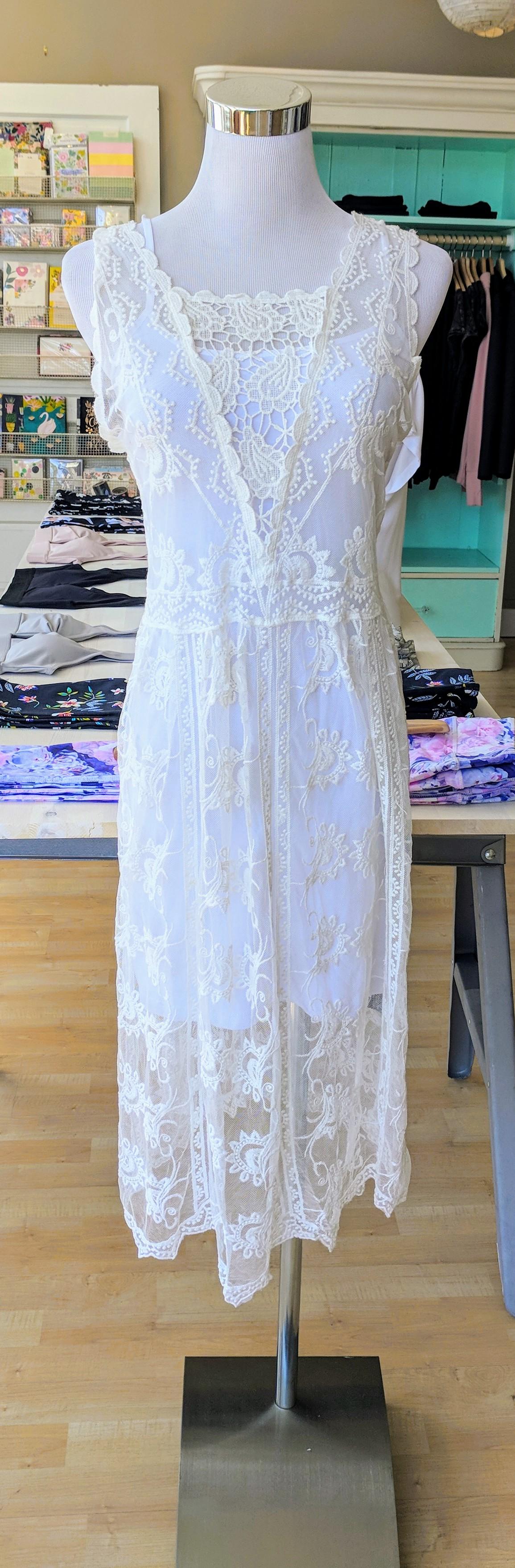 Ivory Lace Dress $38