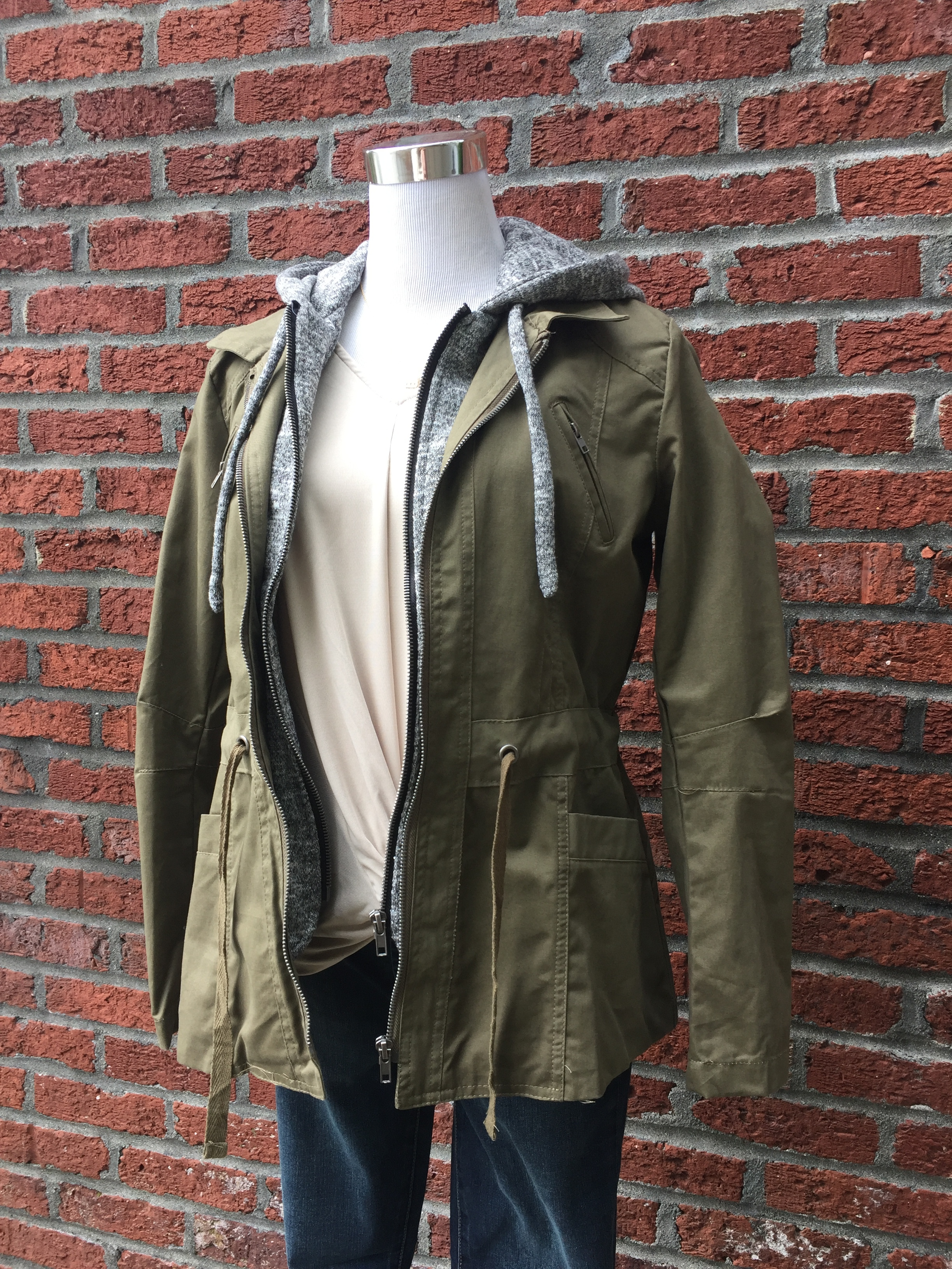 Layered Coat (Green and Mustard)
