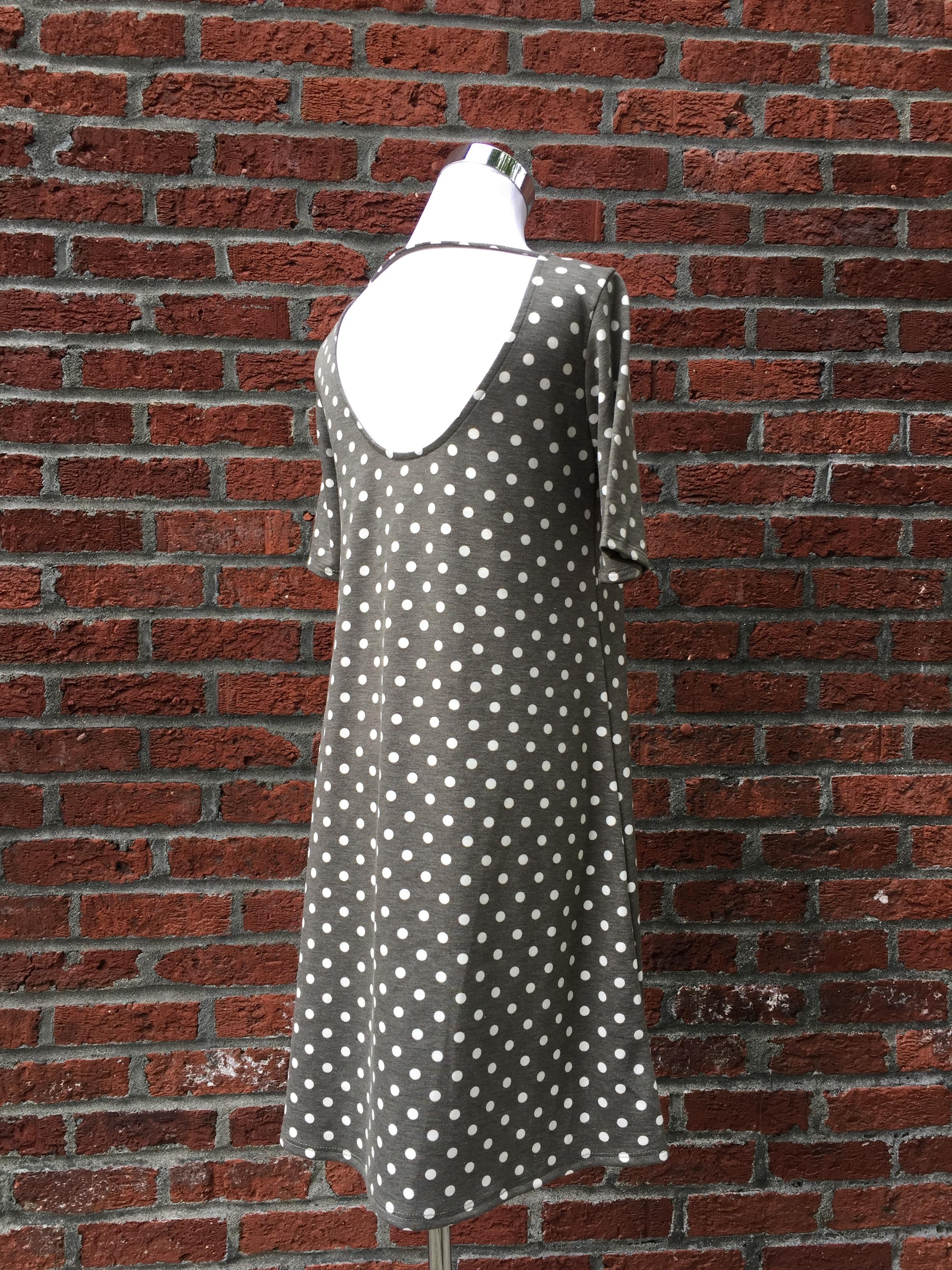 Open Back Polka Dot Dress