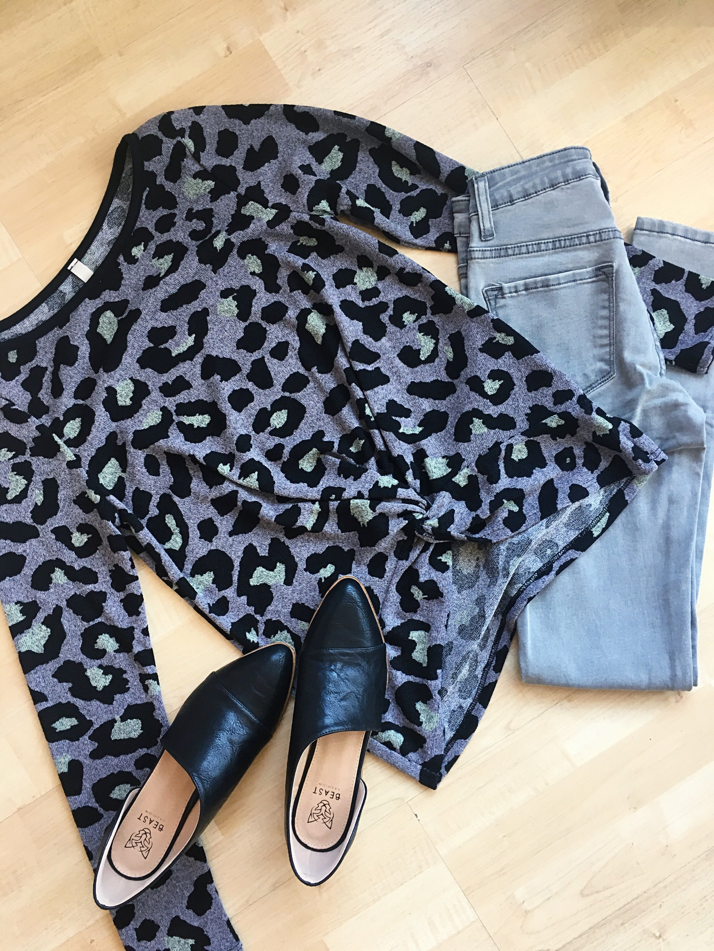 A subtle animal print can add a splash of pattern to your outfit.