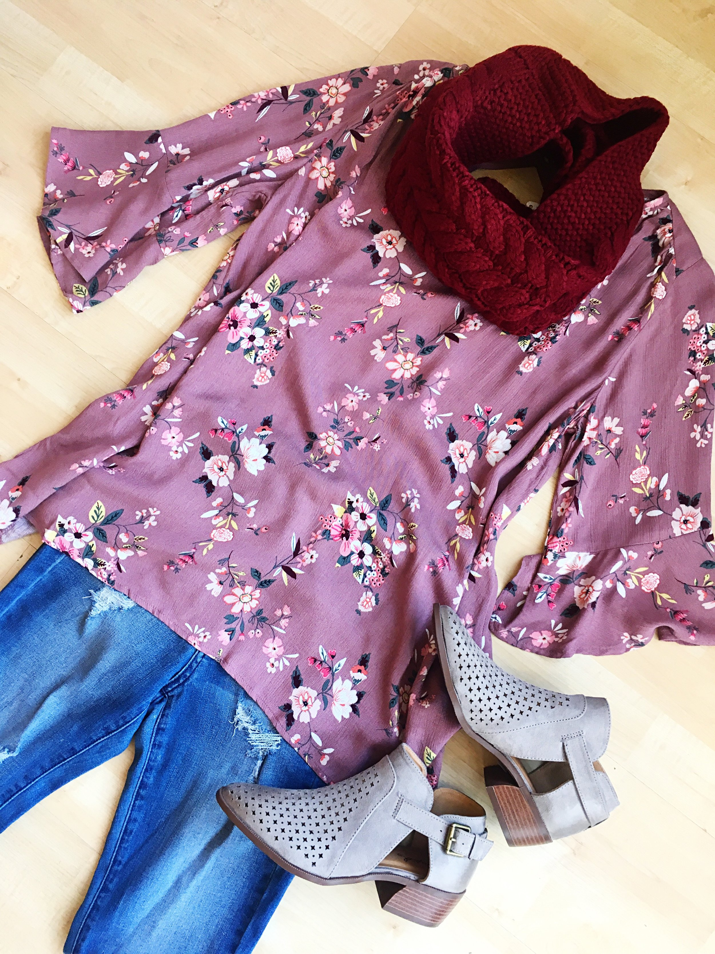 Lighter tops are perfect for layering under scarves and cardigans. Pair them with our booties for a polished look.