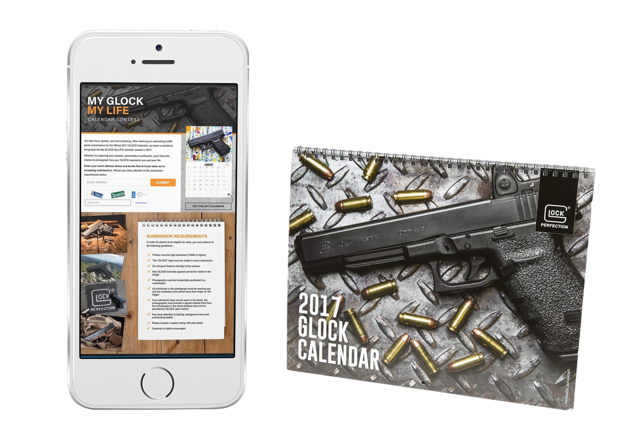 """CREATED FIRST EVER """"MY GLOCK. MY LIFE"""" CAMPAIGN WHICH INTEGRATED SOCIAL MEDIA AND USER GENERATED PHOTOS TO CREATE AN ANNUAL GLOCK CALENDAR."""
