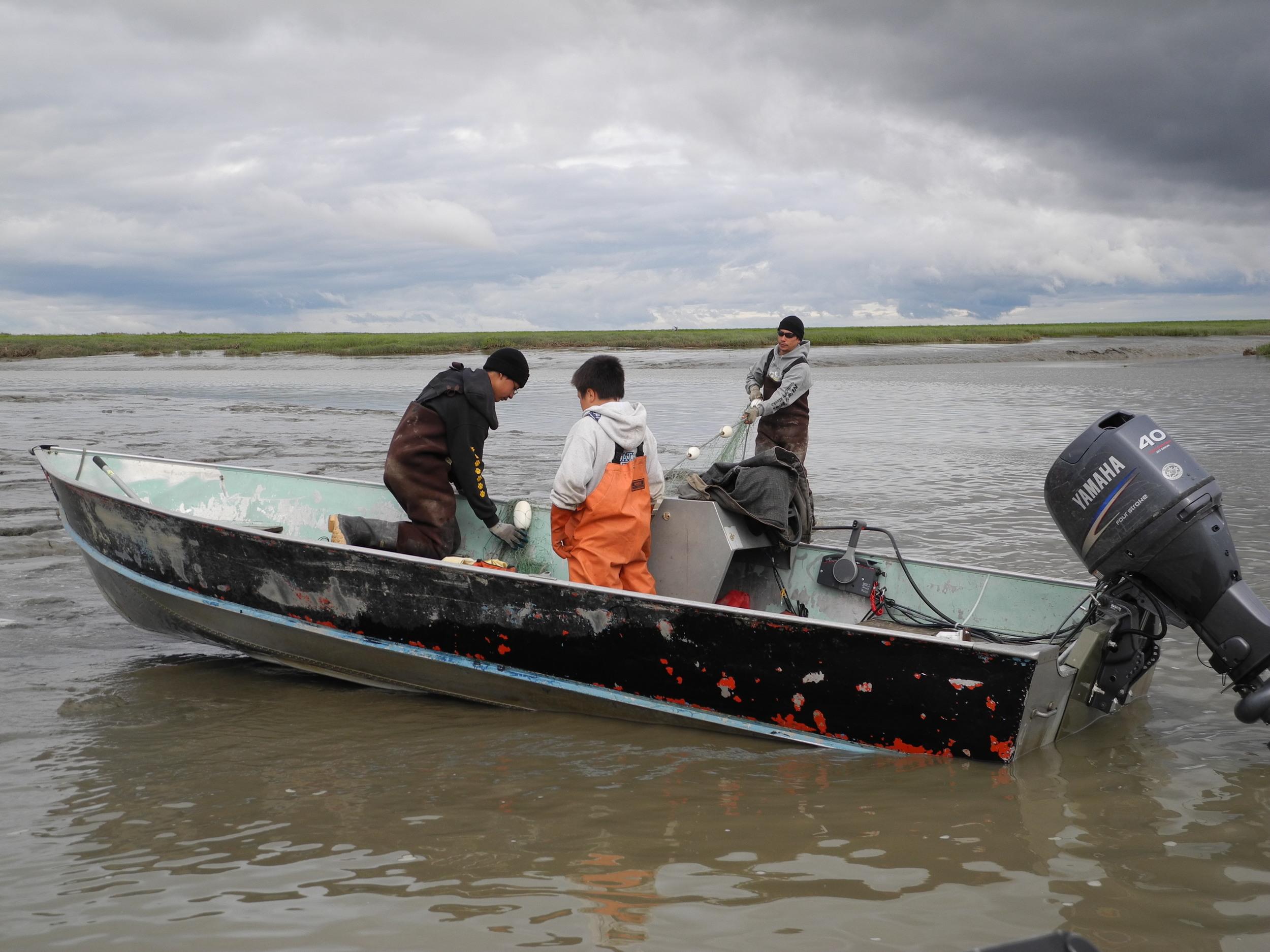 Subsistence fishing in Bristol Bay, AK.