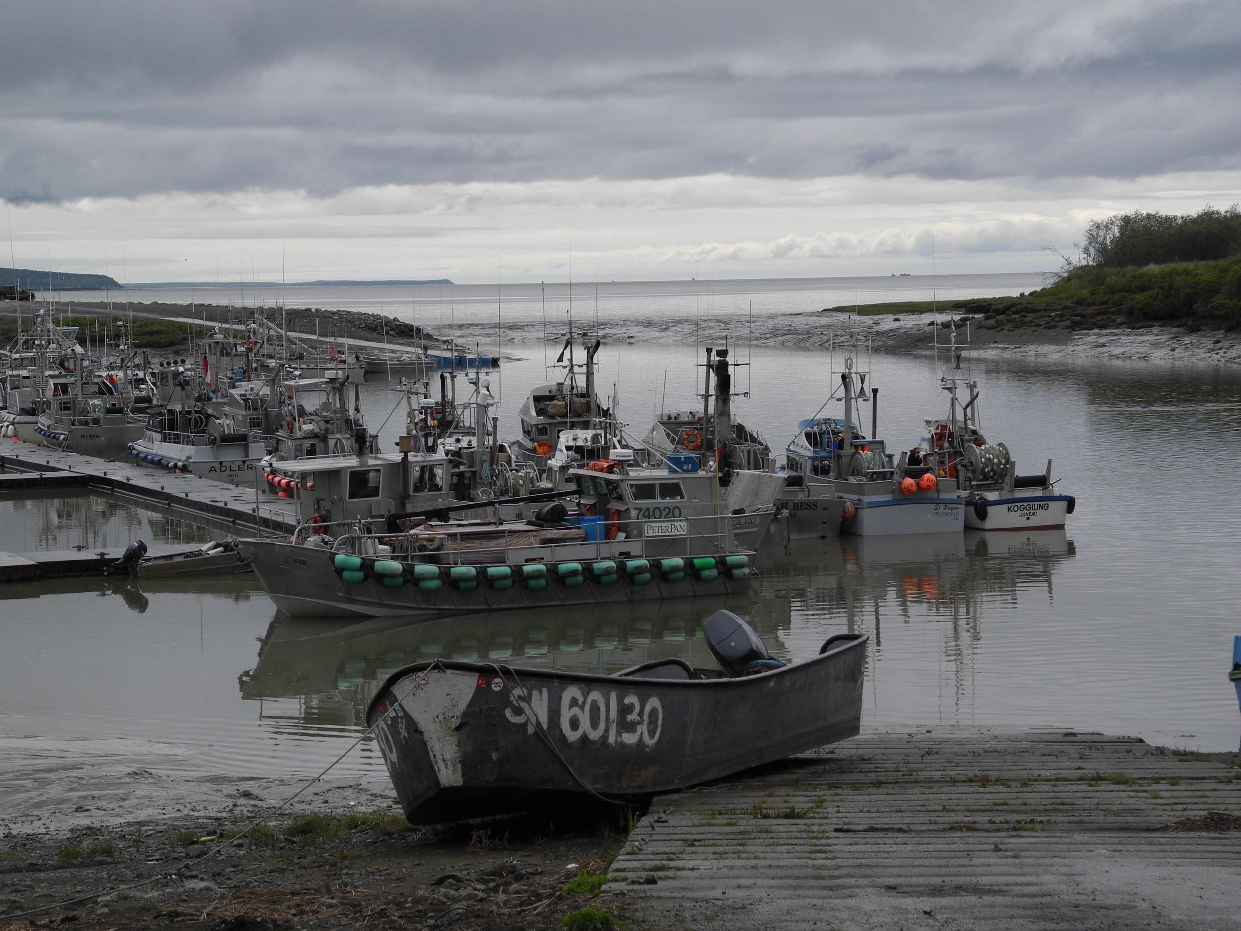 Popular commercial boat launch in Dillingham, Alaska