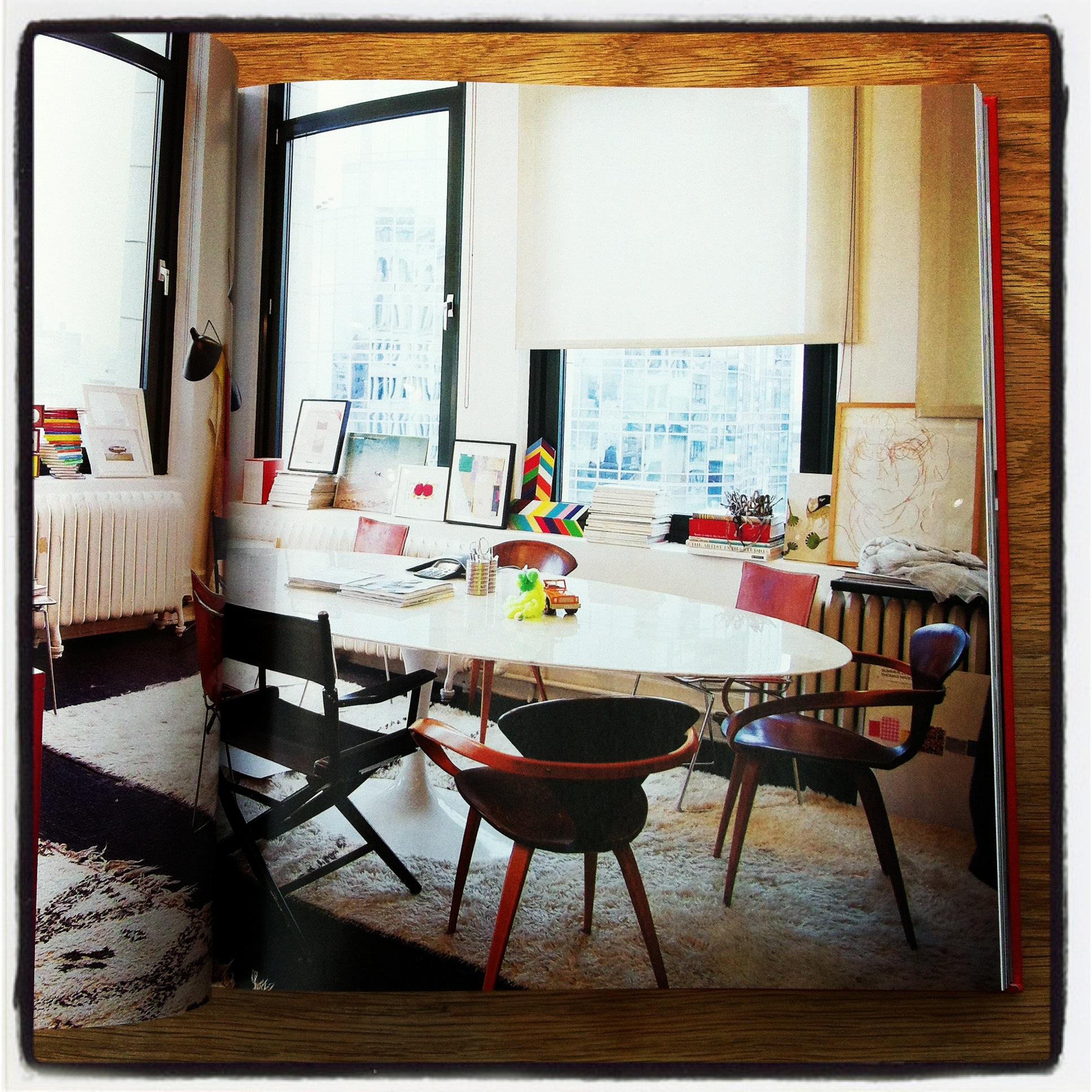 The sleek corner office of Jenna Lyons, Creative Director, J.Crew