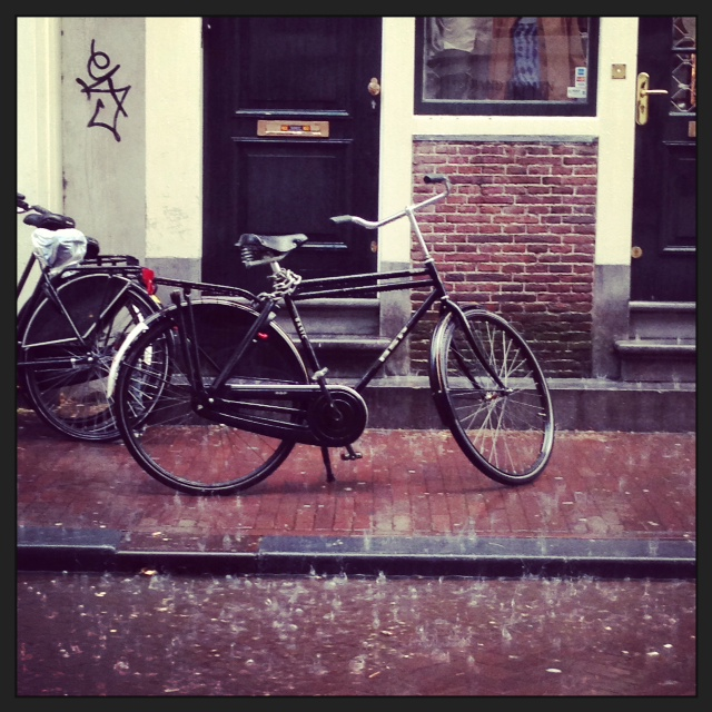 I've been in Holland visiting my in-laws. Got caught in an epic thunderstorm in Amsterdam yesterday, one of those ones where your jeans are so soaked through they stick to your legs. We hid from the rain for a drink in Cafe Van Zuylen  and dinner at Cafe Brix