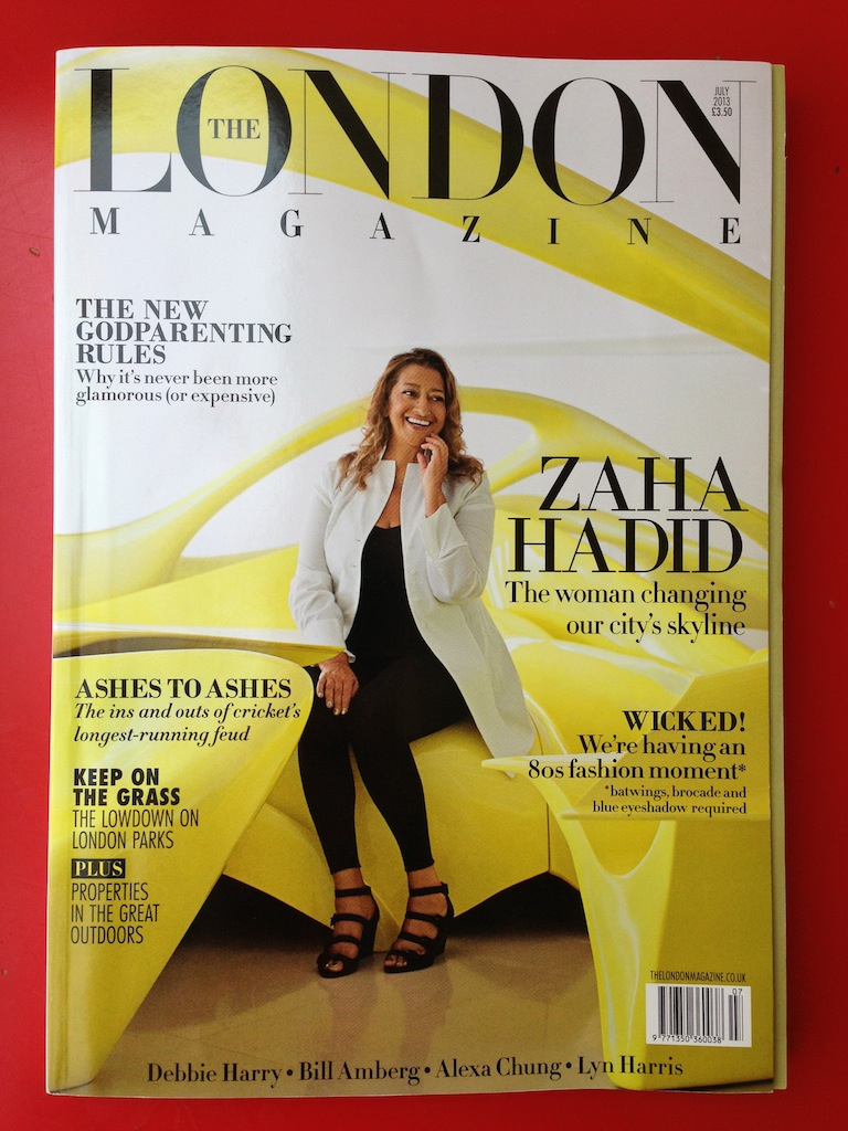 July 2013 issue with the fabulous Zaha on the cover