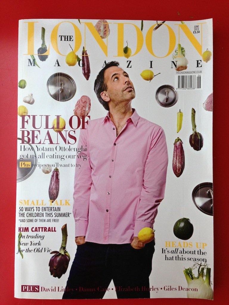 The June 2013 issue featuring dinner party recipe king Yotam Ottolenghi