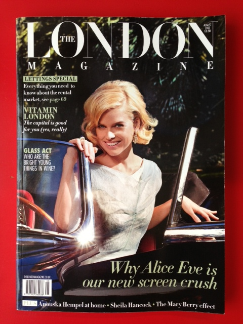 The August 2013 issue with actress Alice Eve on the cover.
