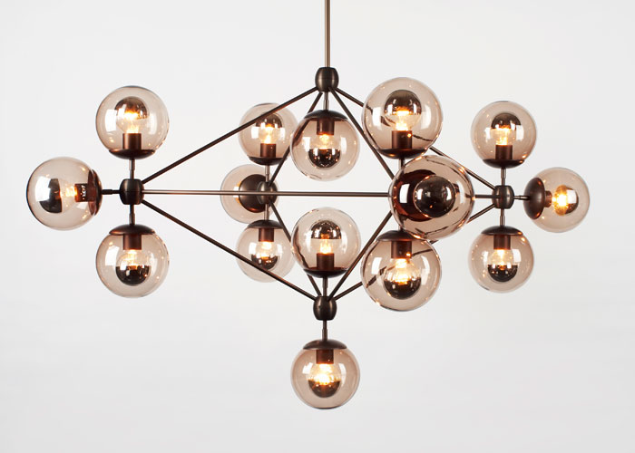 Modo chandelier by Jason Miller for American brand Roll & Hill,at SCP.      The clocks go back this weekend which means it's time to think about lighting. Are you happy with yours, have you got the right bulbs, could you do with some more mood lights..? I've written about this in my  October design column for The London Magazine.