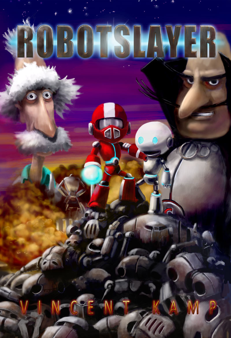 Robotslayer: a graphic novel for kids written and illustrated by my husband