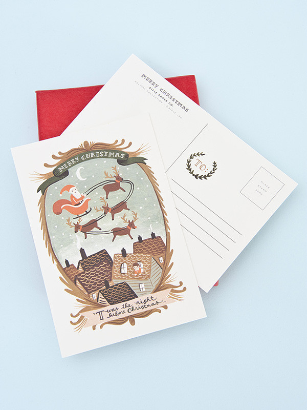 Or a festive Rifle Paper Co postcard from  Papermash