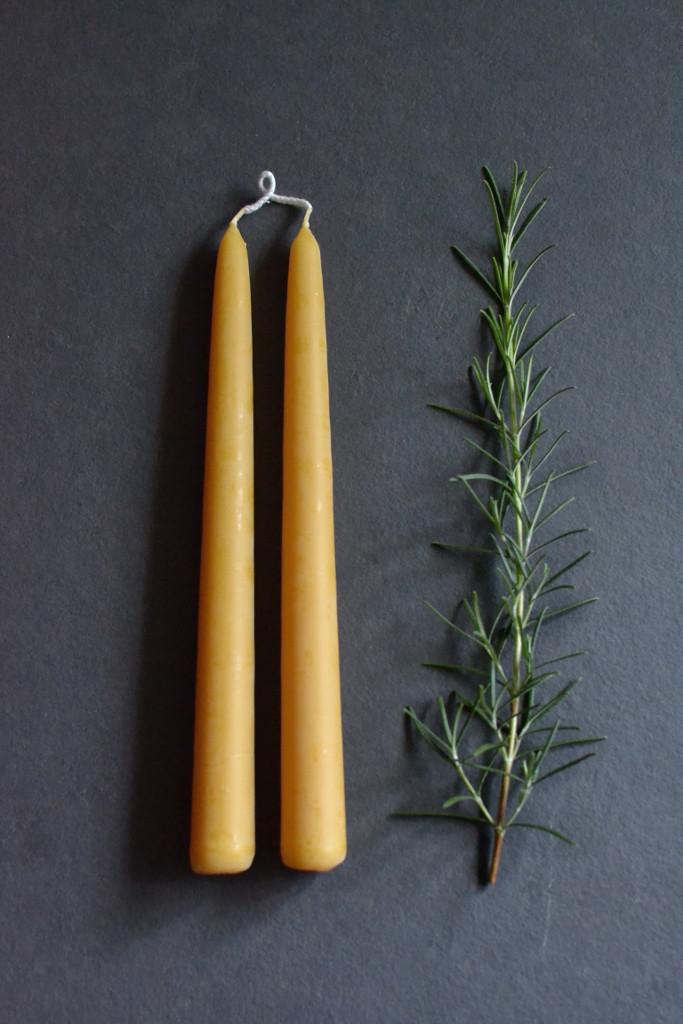 Beeswax candles - pair - Decorator's Notebook.jpg