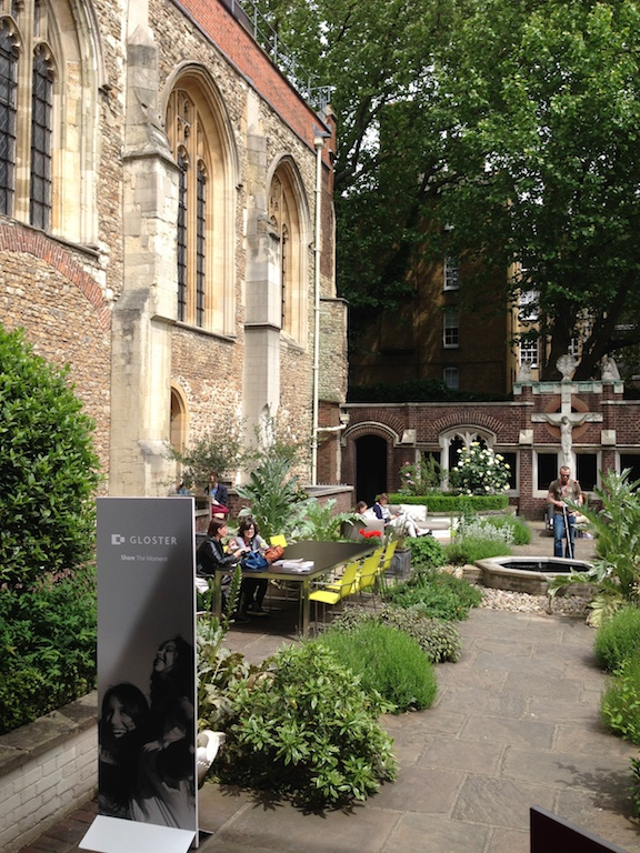 The Cloister Garden at the Order of St John where the press tour started