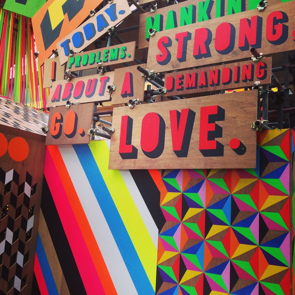 "Fab ""Festival of Love"" signage on the Southbank this summer"
