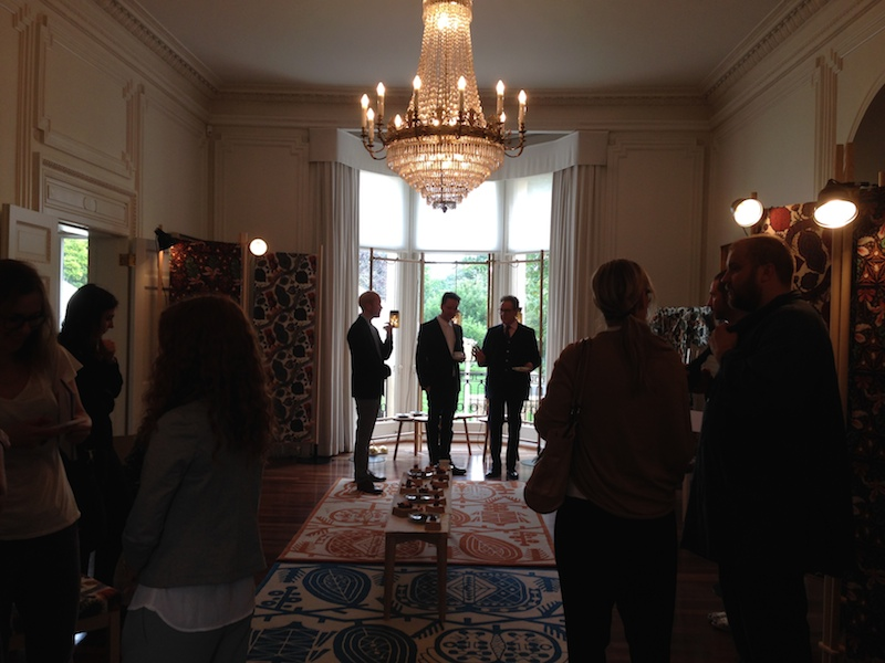 At the Finnish Ambassador's Residence, no less, we got to meet the delightful  Klaus Haapaniemi  who is a Finnish textile designer. It was such a beautiful location in which to see beautiful things.