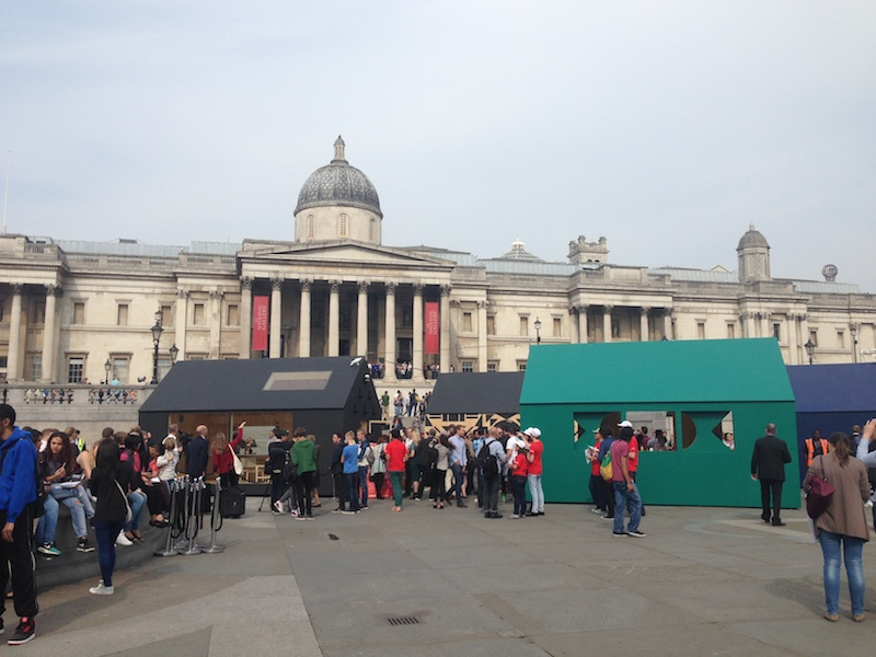 Airbnb  put four sheds up in Trafalgar Square. It was a bit unexciting.