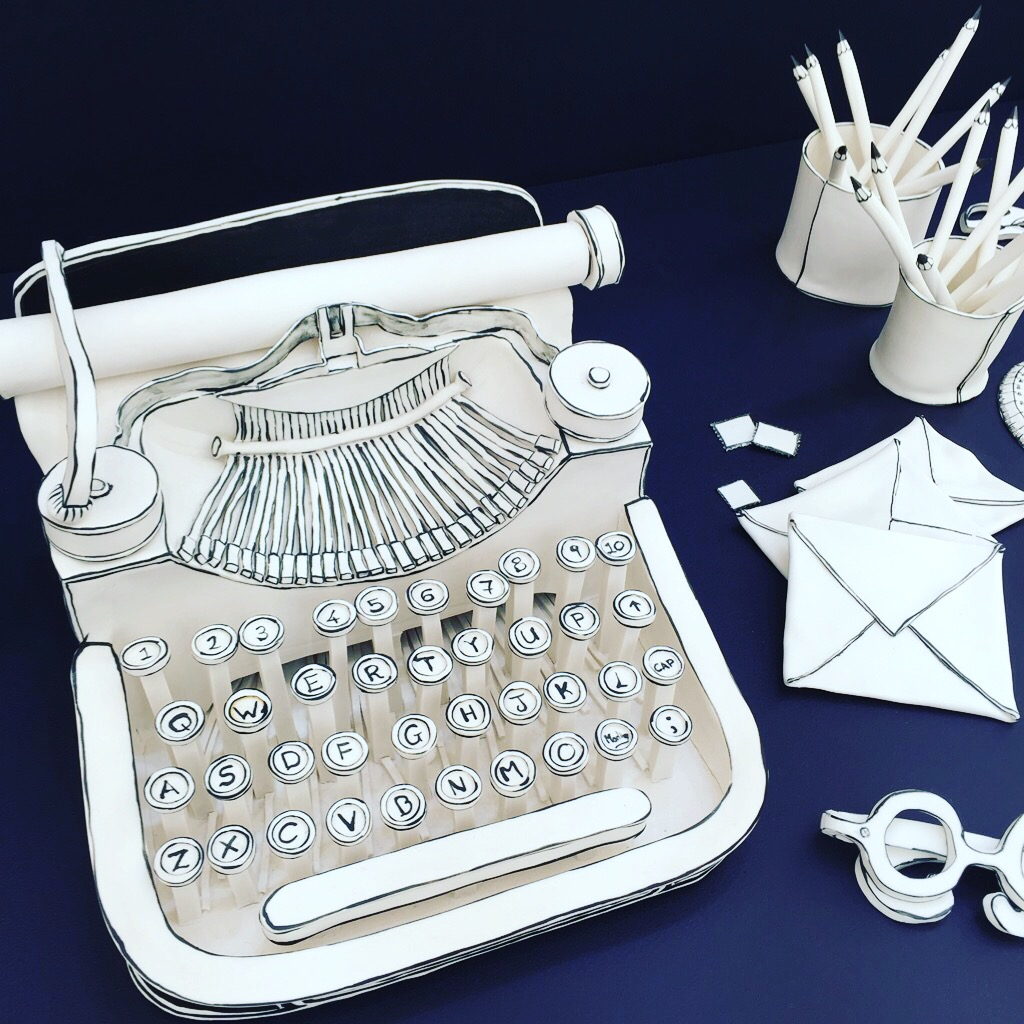 Taking ordinary to extraordinary was this ceramic typewriter, part of Future Heritage at Decorex, made by  Katharine Morling . Check out the ceramic pencils in pencil pot too - I'm sure it was much instagrammed, and rightly so.
