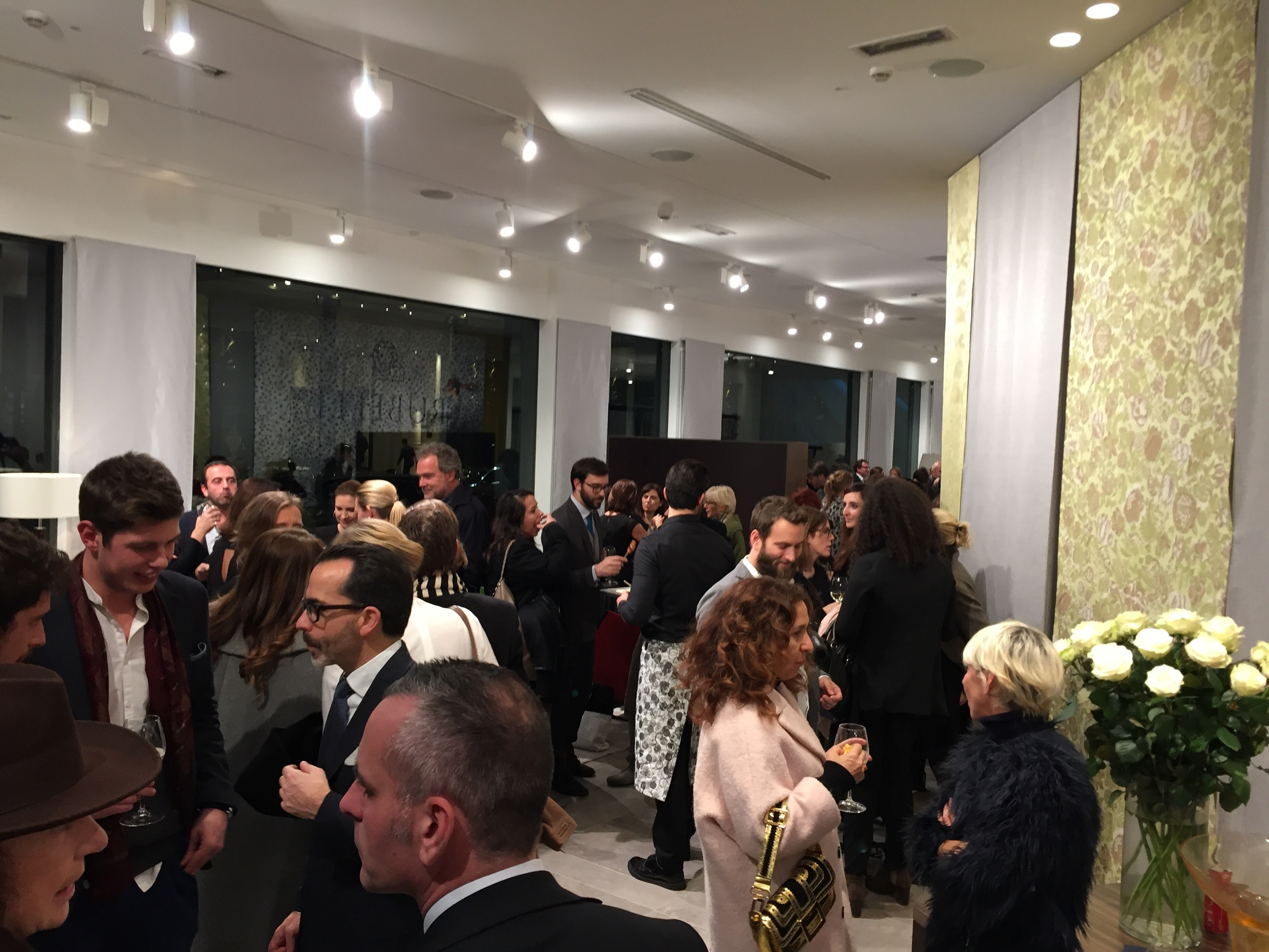 Party at the Rubelli showroom.