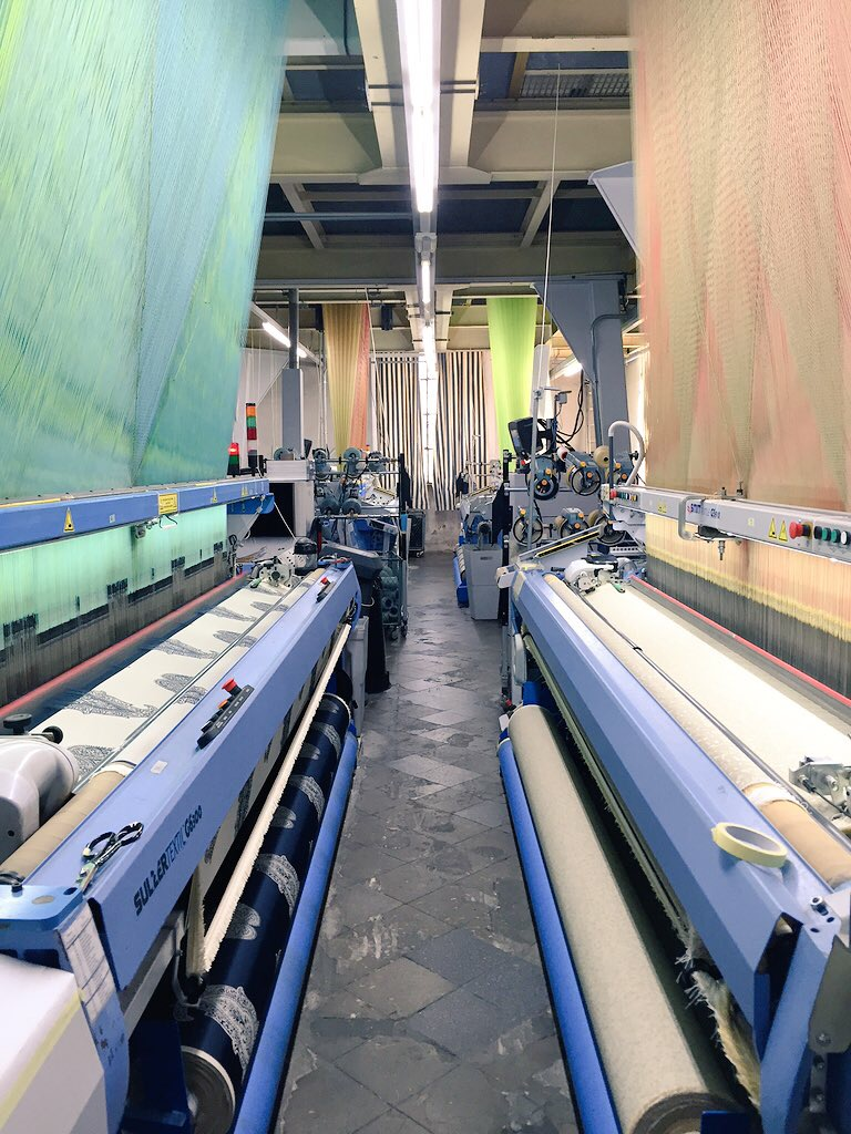 The large and loud jacquard machines.
