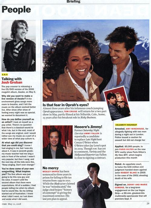 Oprah Winfrey wearing Simon Alcantara 14kt gold hoops with 14kt gold beads