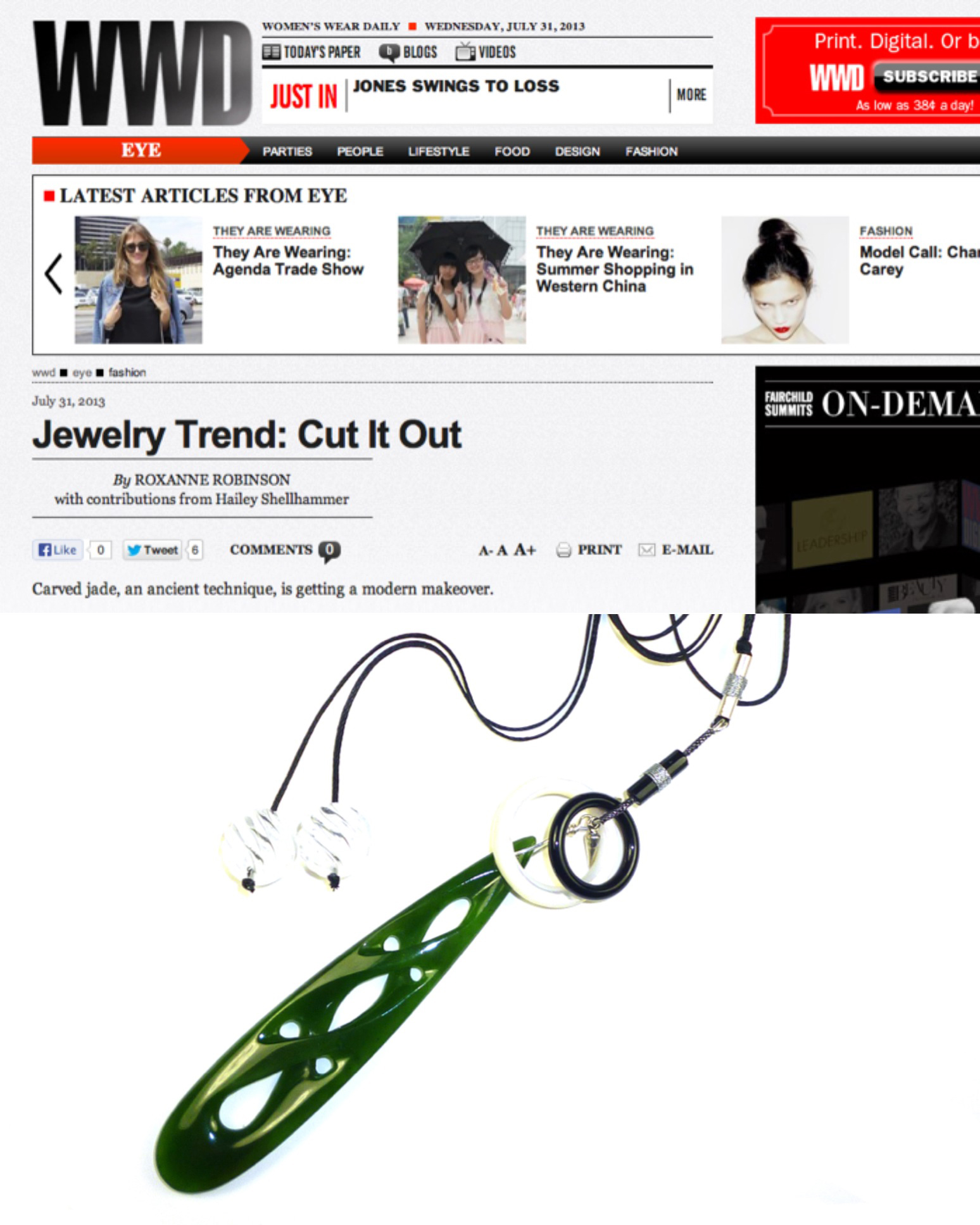 WWD JEWELRY TREND REPORT