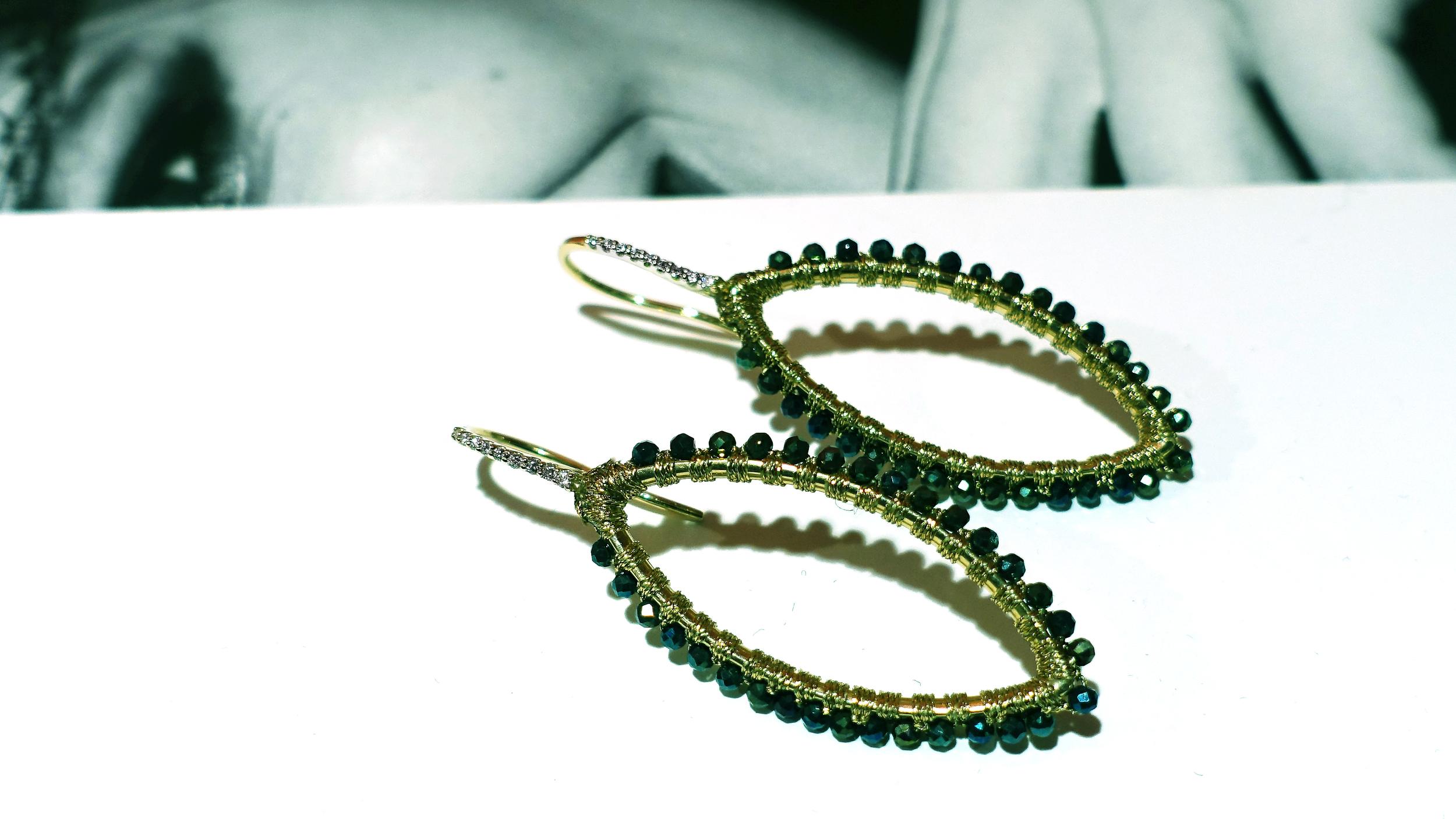 SIMON ALCANTARA VESICA PISCIS DIAMOND AND SPINE EARRINGS.jpg