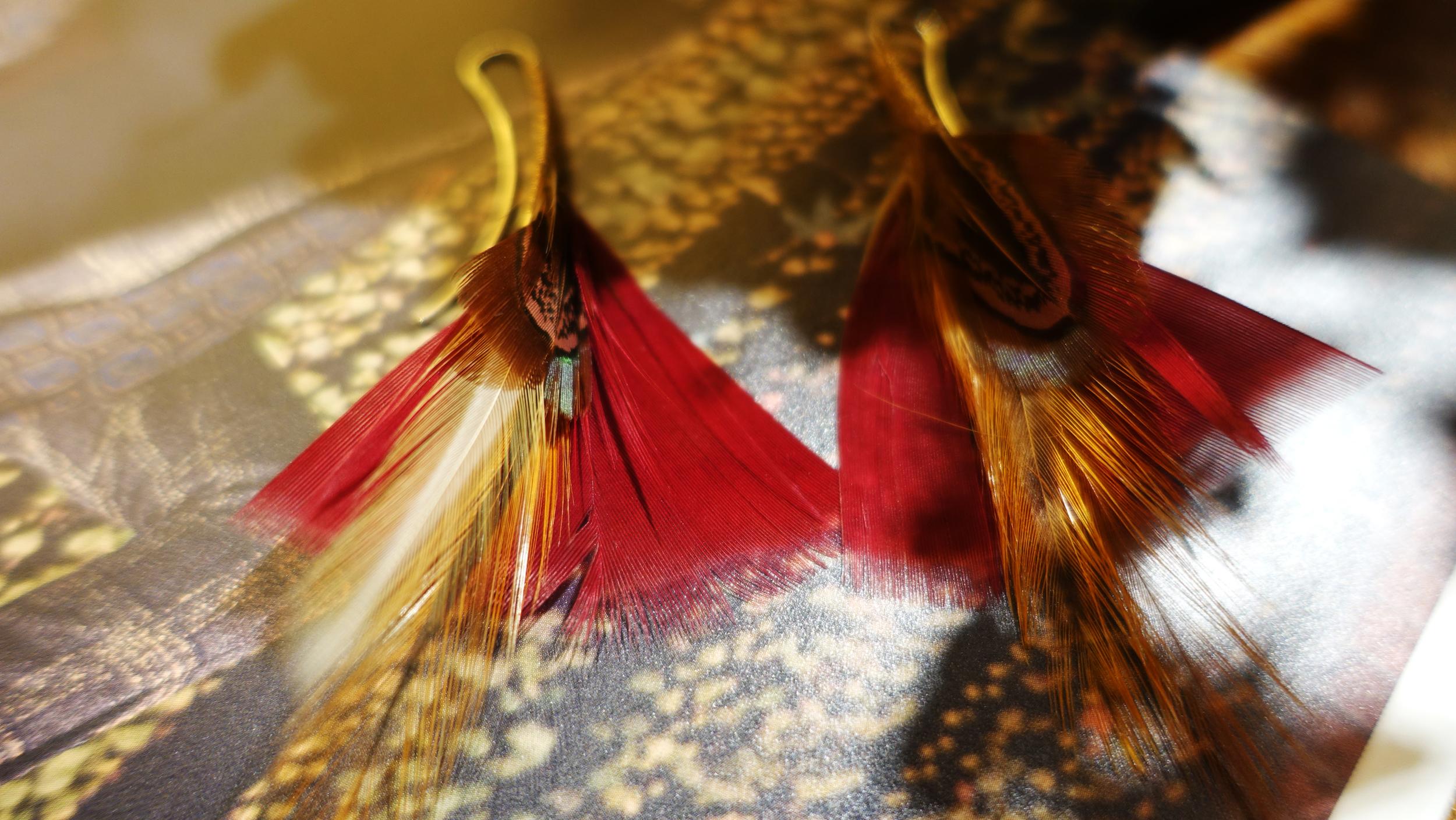 SIMON ALCANTARA FEATHER EARRINGS.jpg