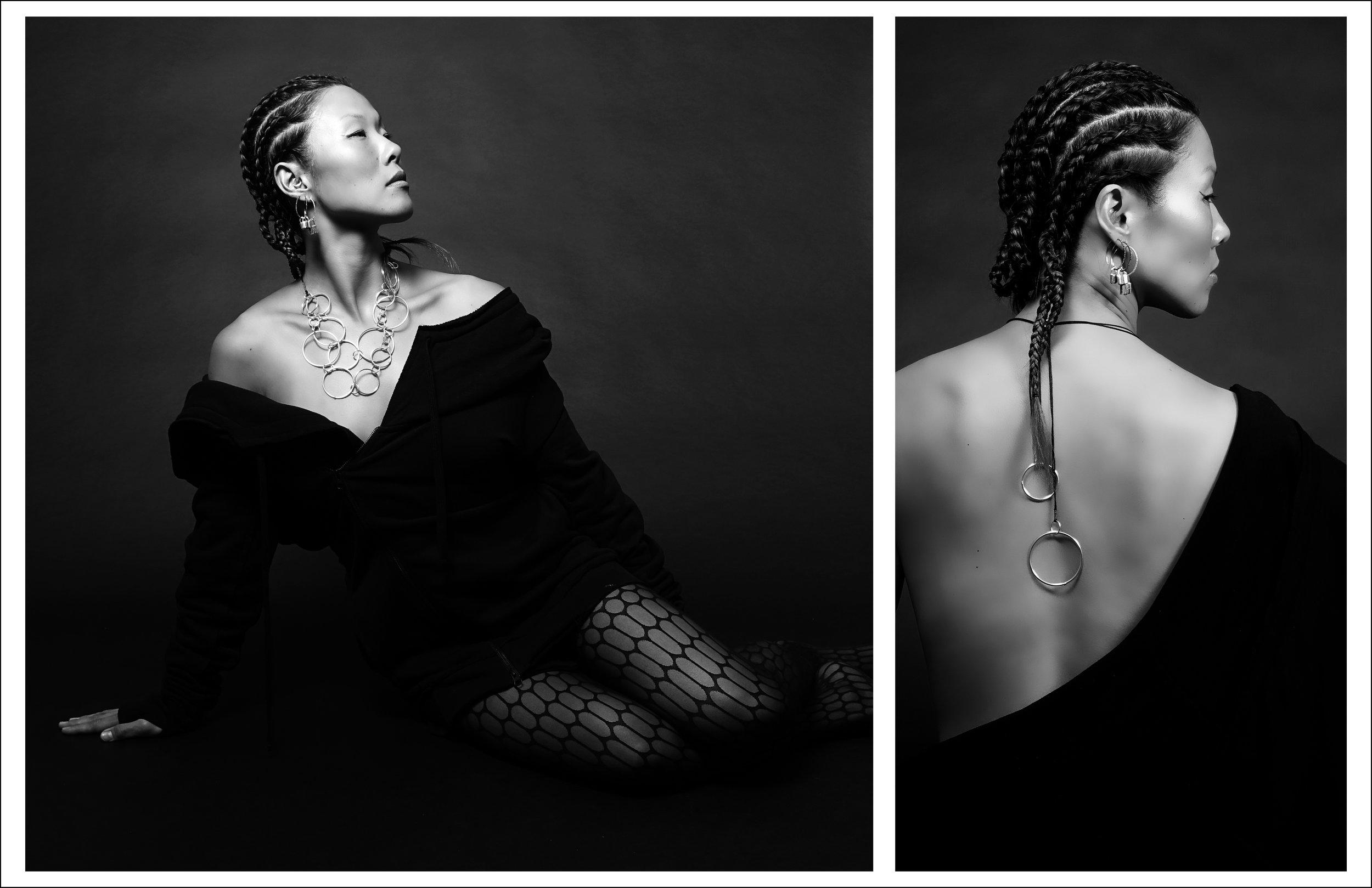 Models: Riji Suh & Maxmillion  Photography, jewelry, styling, art direction, and design direction: Simon Alcantara Post Production: Max Rosario  Hair: Joni Johnson of Kropps and Bobbers Salon