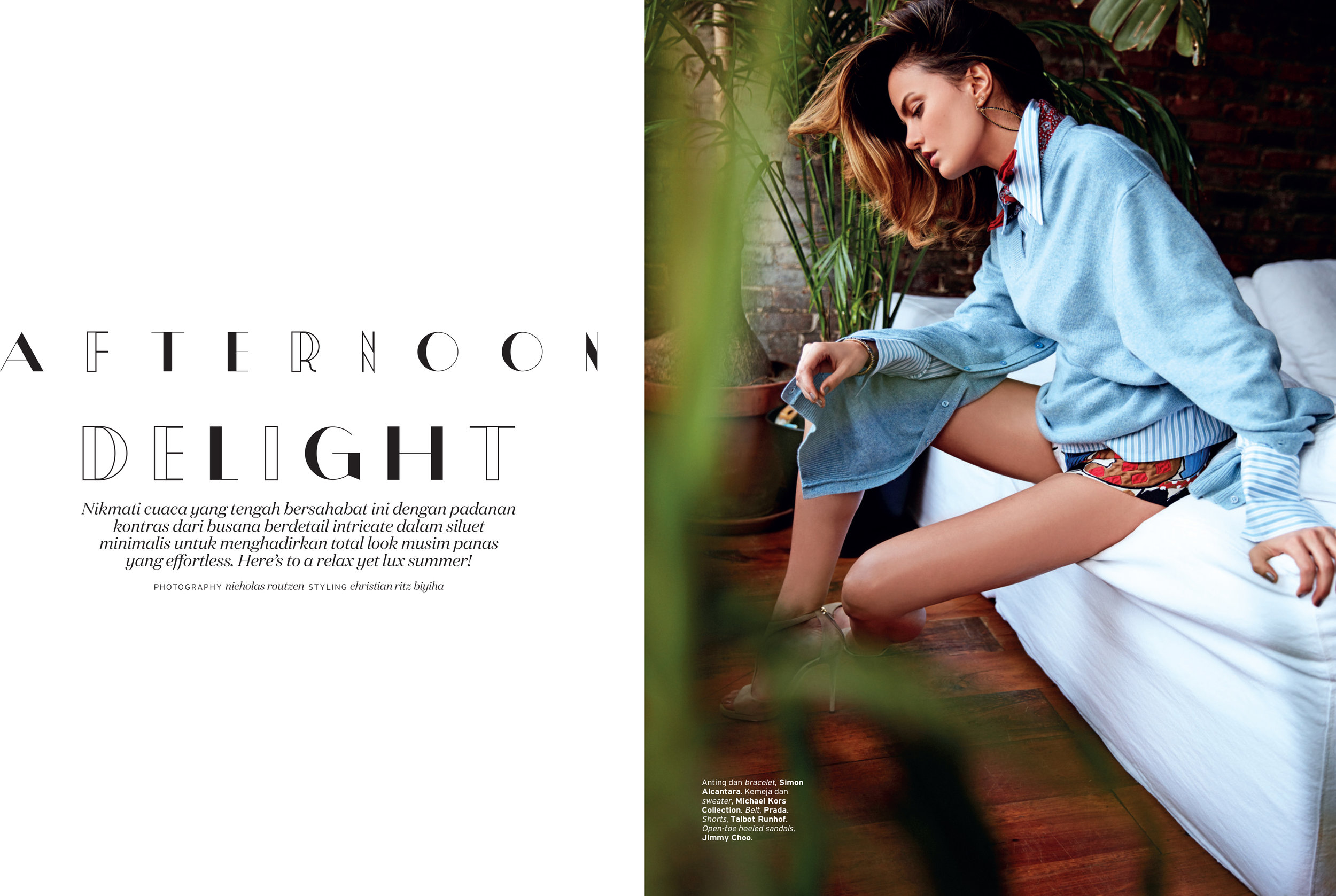 ELLE INDONESIA APRIL 2017 FEATURING SIMON ALCANTARA M31 ANDROMEDA EARRINGS AND BRACELETS
