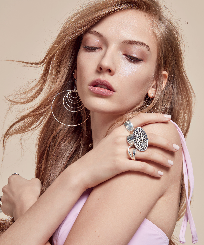 Simon Alcantara AquaLuna earrings in the March-April 2018 Issue of JCK.  Photographed by Jean -Phillipe Malaval. Stylist: Maggie Mann, Jewelry Editor: Rima Suqi.