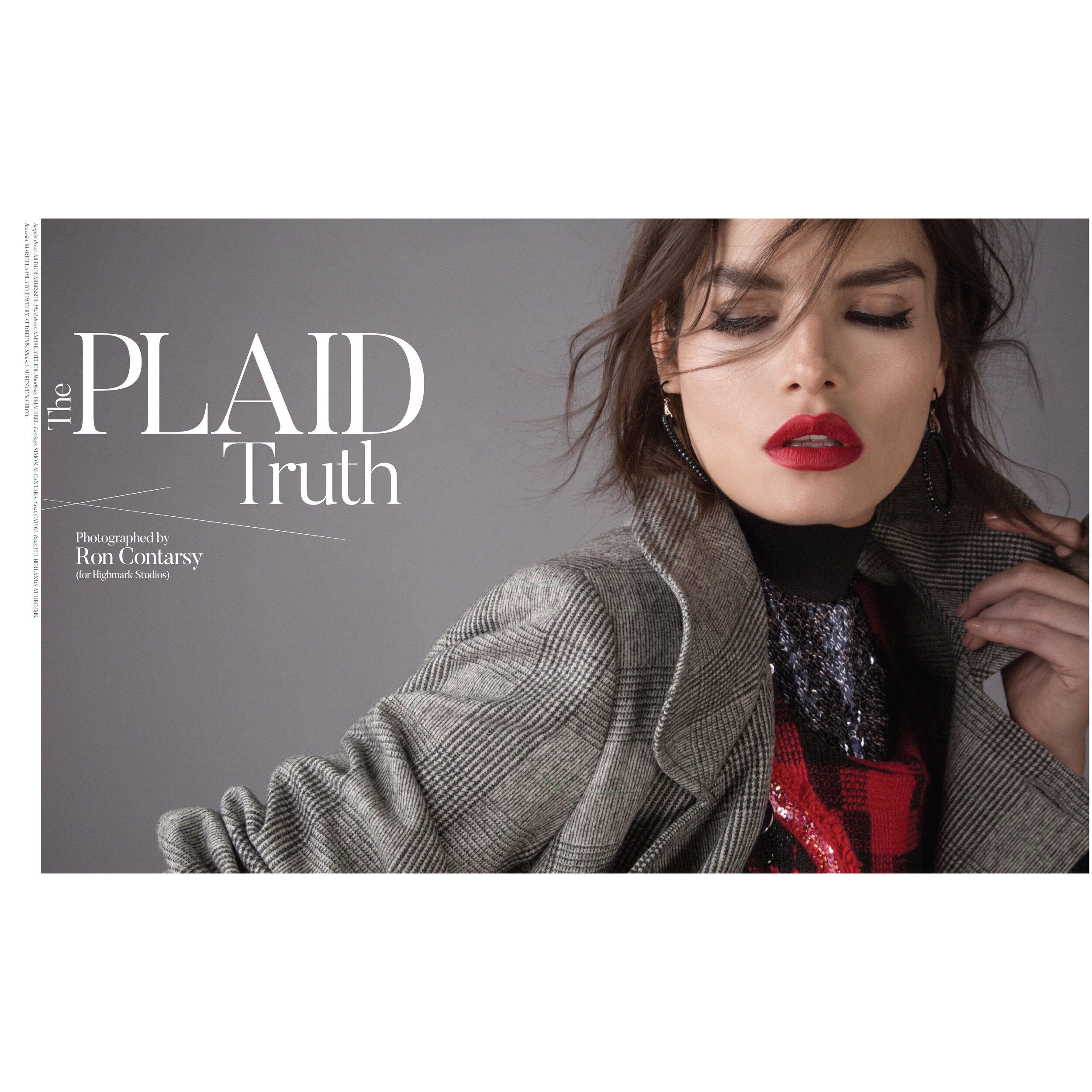 The Plaid Truth  Civilian Magazine @civillian_mag  Photography by Ron Contarsy  Styled by Alison Hernon  Model Nohemi Hermosillo  Hair and Makeup Vassillis Kokkindis  Assistant Stylist Ayoka Lukas