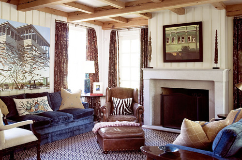 another family room with francis livingston over mantle