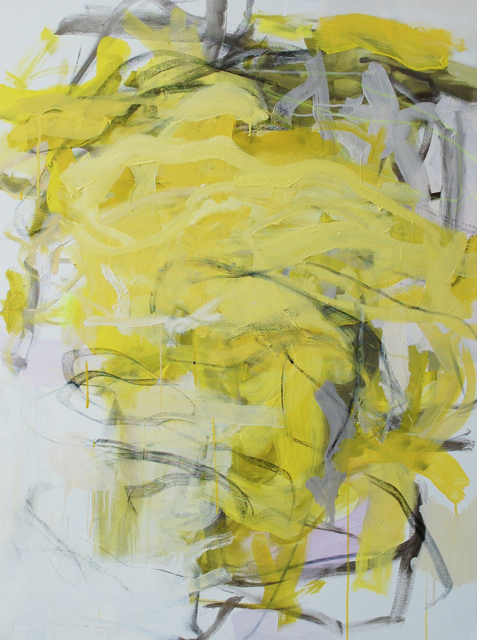 daffodil  oil, acrylic, gouache + charcoal on canvas  48 x 36 inches
