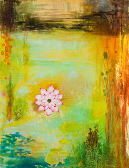 white lotus  oil on canvas  60 x 48 inches