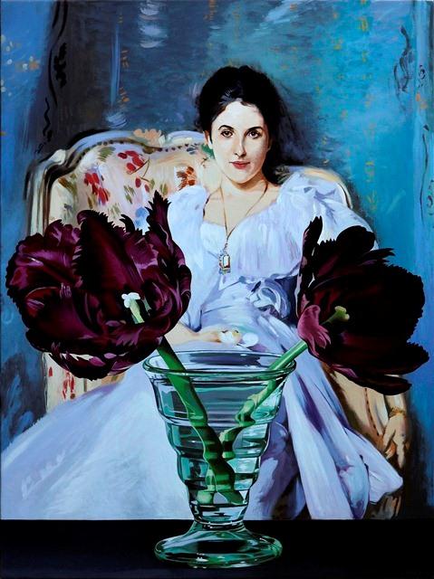 sw778-Purple Tulips with Lady of Lochnaw, 24x18,2012,ref-Sargent.jpg