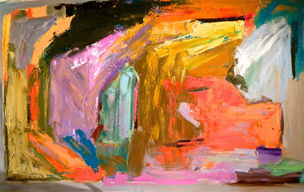 trippin on sunshine 2013   oil on canvas  36 x 60 inches