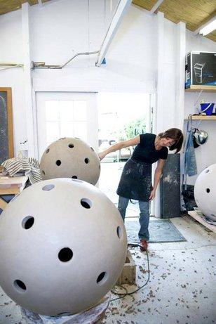 virginia in her studio