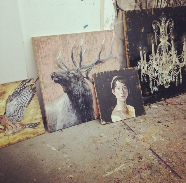new paintings for solo exhibition at hidell brooks