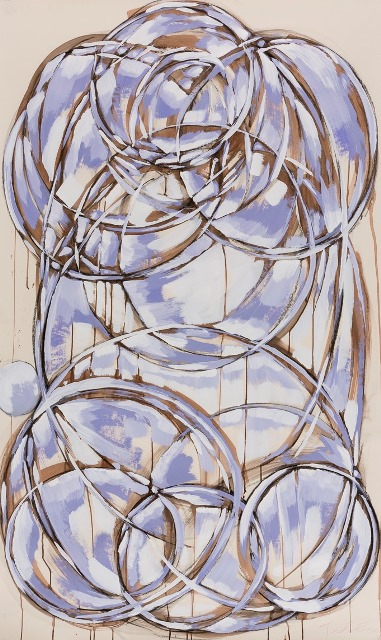 ultra violet 2015 mixed media on paper 60 x 36 inches