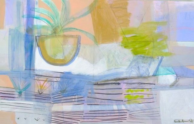 mambo taxi 2014 mixed media on linen30 x 48 inches