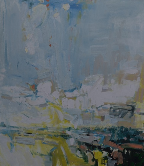 wild & the evening skies ii 2015 -oil on canvas -30 x 26 inches