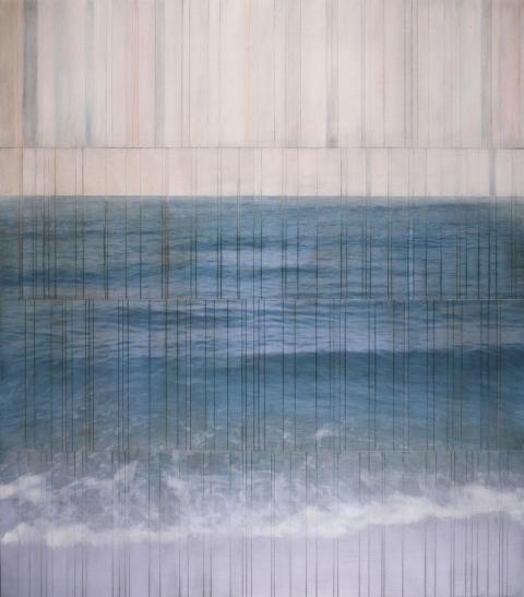 billboard atlantic #18 2015 |pigment print on board with oil & wax |48 x 42 inches