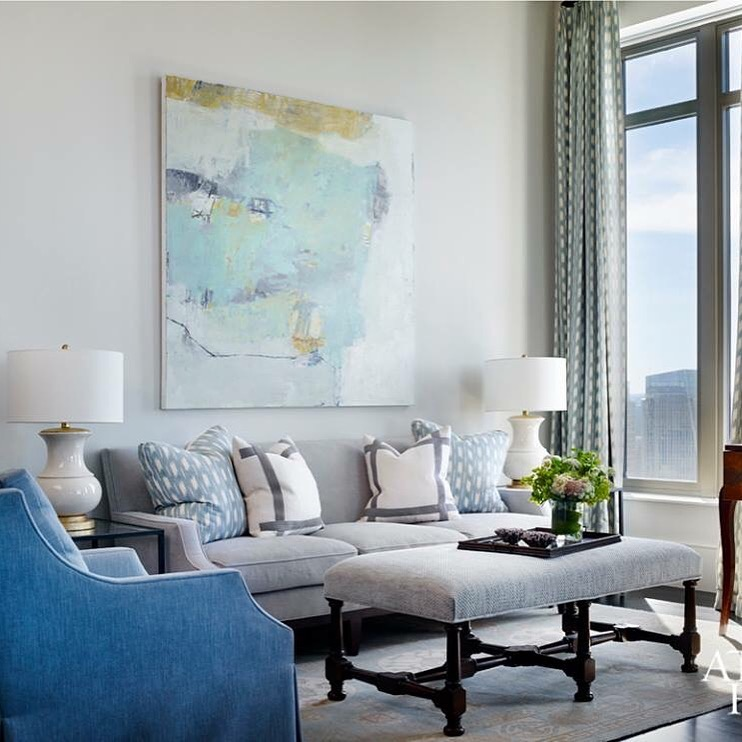 painting by  jenny nelson  in  atlanta   homes & lifestyles magazine
