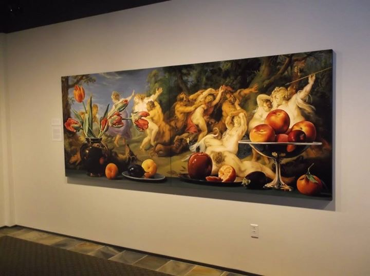 painting by  sherrie wolf  hanging in her recent solo exhibition at the  hallie ford museum  of art in salem, oregon