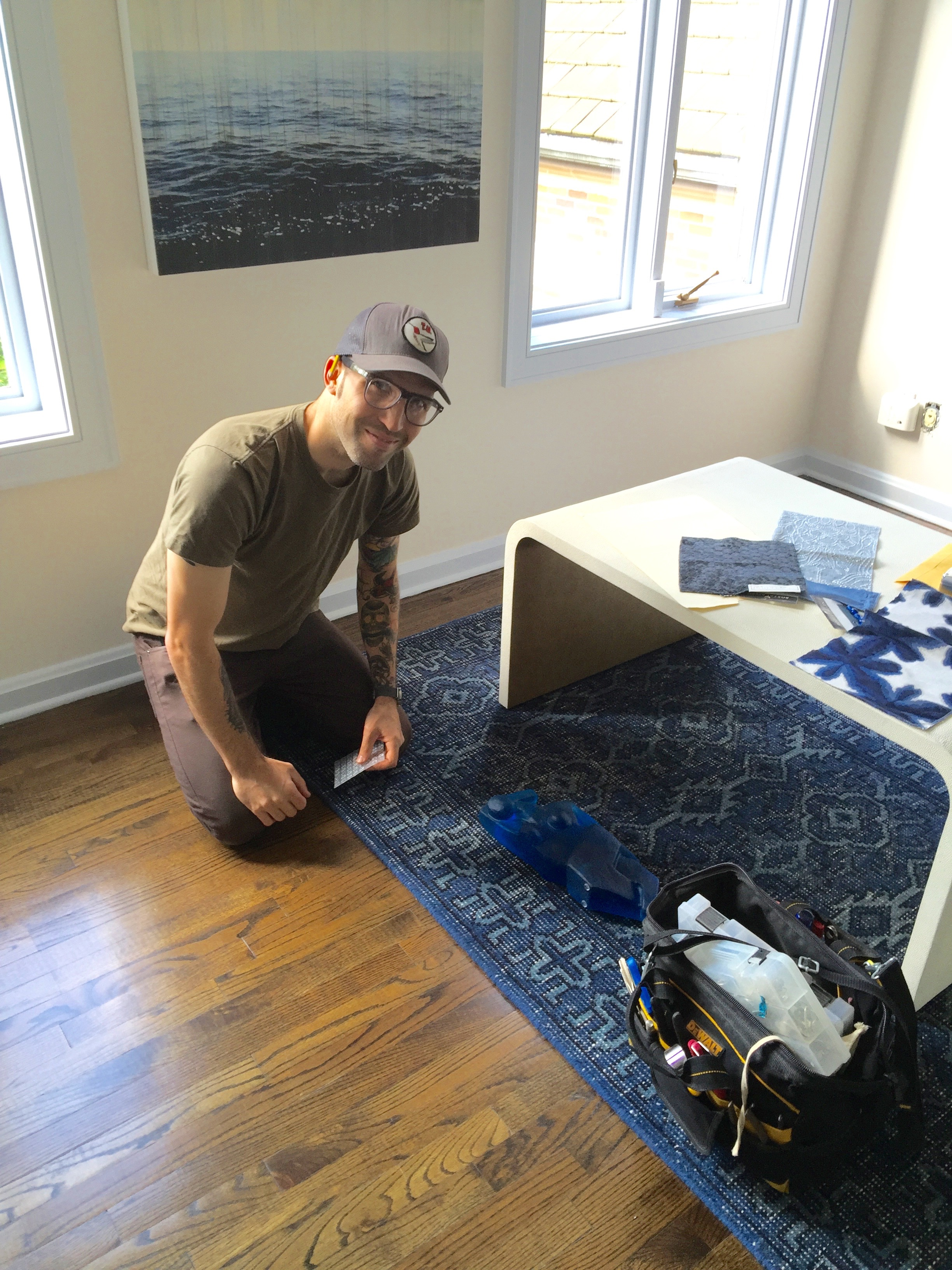 so happy to have chris our installer along for the ride