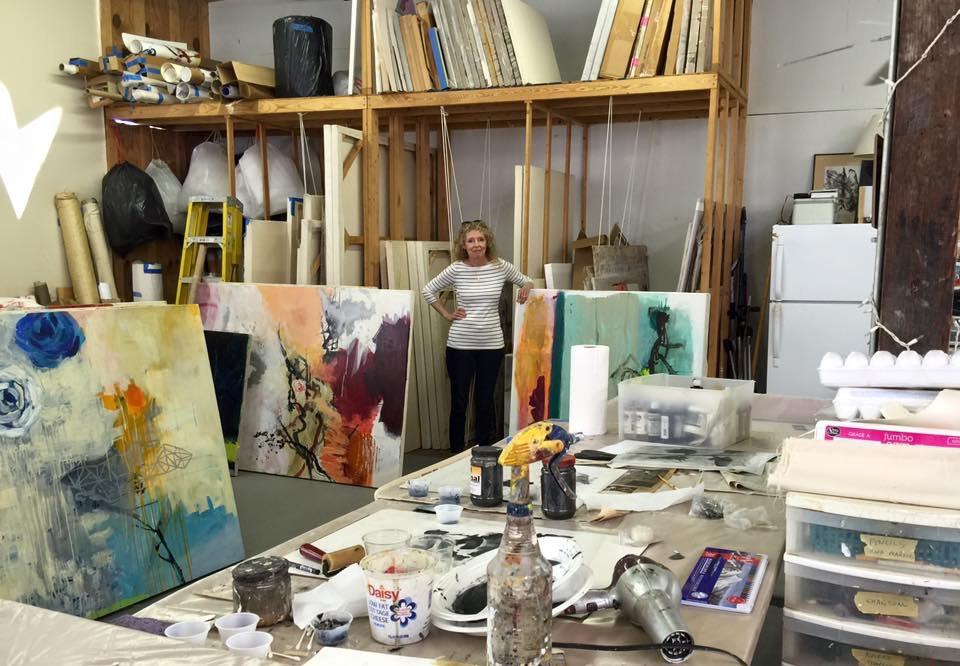 allison stewart in her new orlean's studio