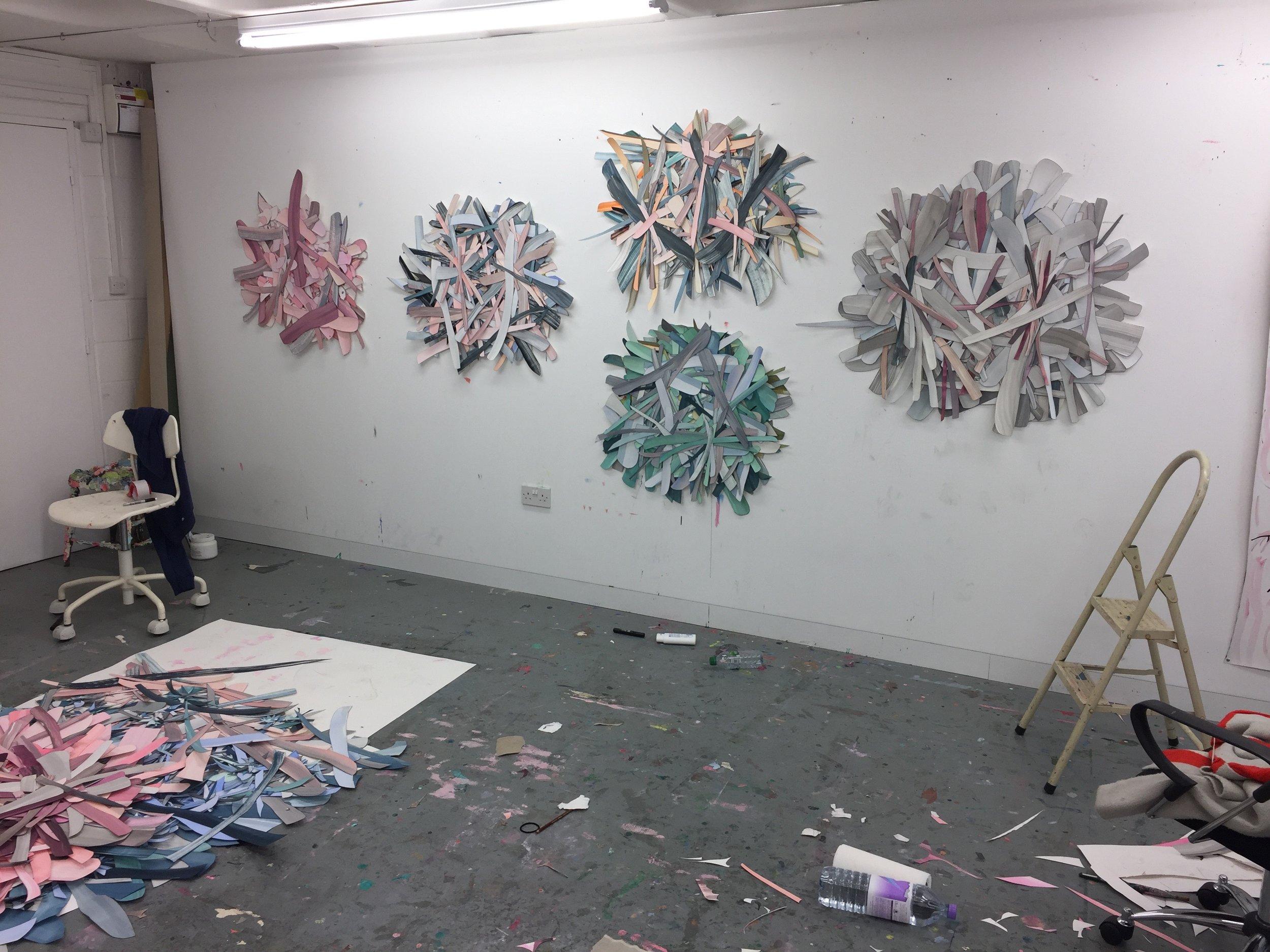 hanging in selena's london studio