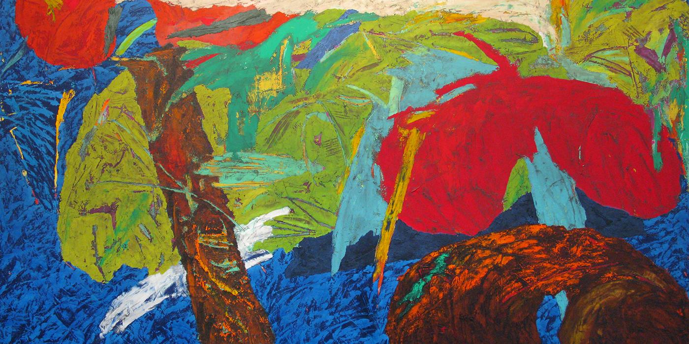 Manu , acrylic, 1994, 84″ x 144″