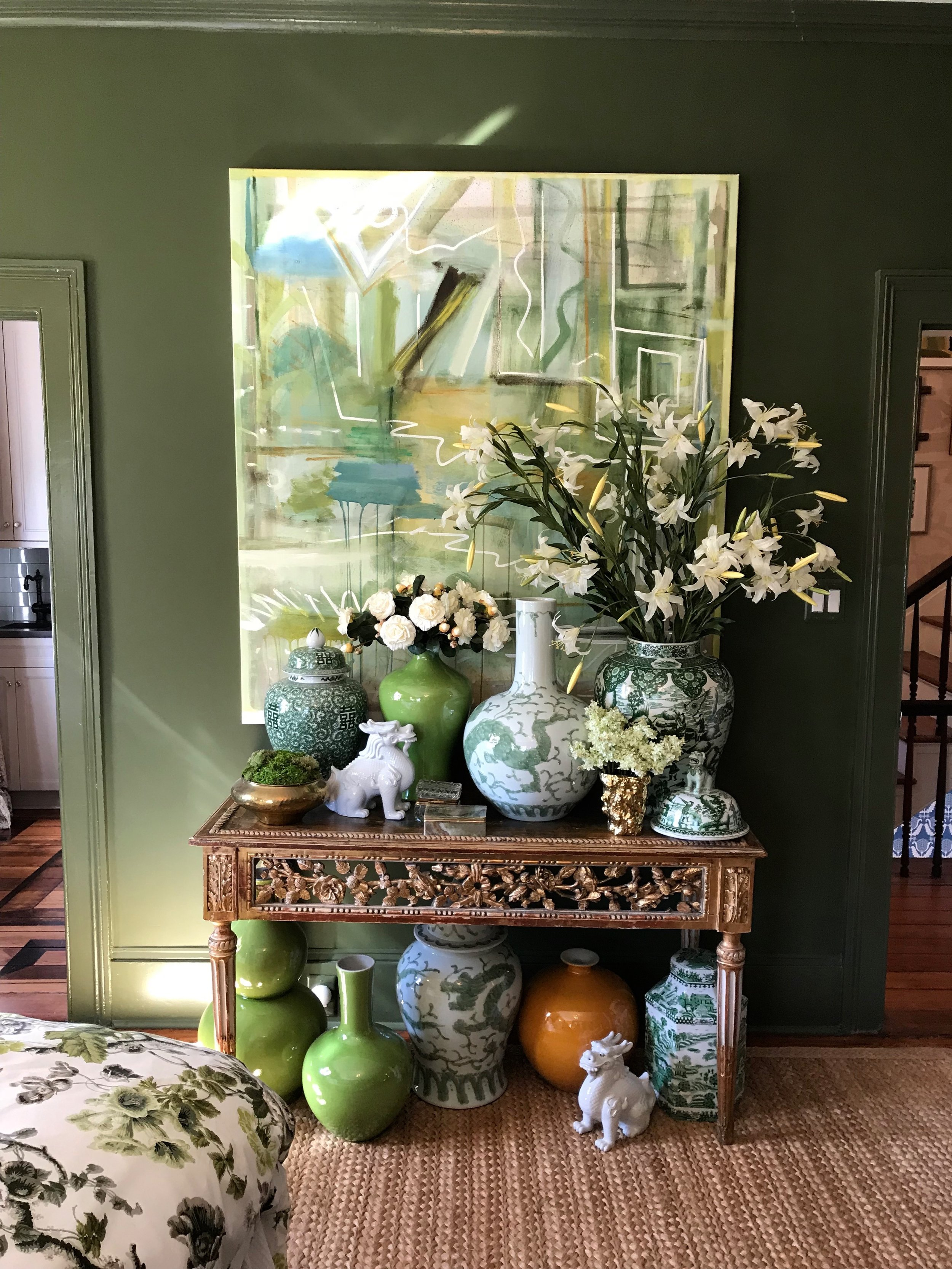 master bedroom by melanie turner interiors large abstract by sally king benedict